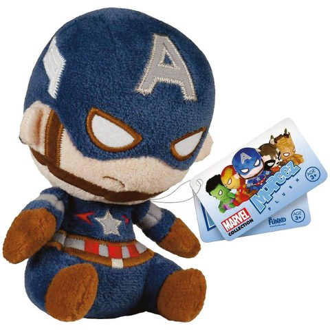 Mopeez Marvel Captain America Plush Figure