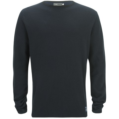 Jack & Jones Men's Core Bobby Crew Neck Knitted Jumper - Black
