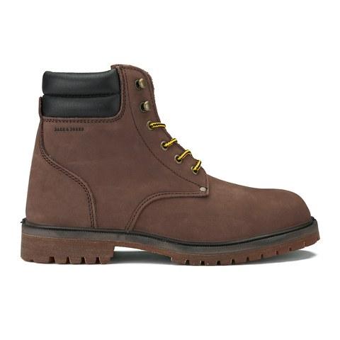 Jack & Jones Men's Stoke Nubuck Boots - Brown Stone