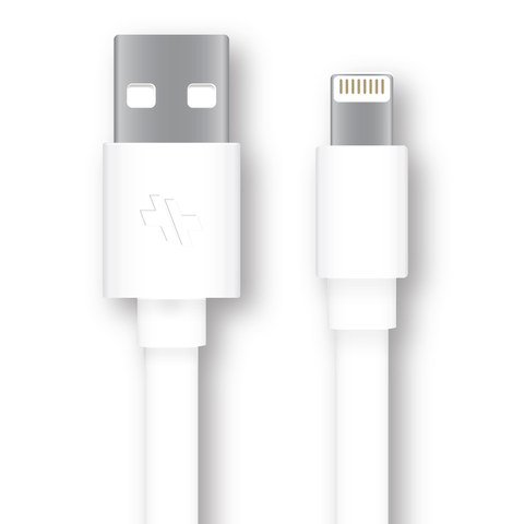 Swiss Mobility Sync/Charge Flat Cable (4ft.) for Lightning Devices - White