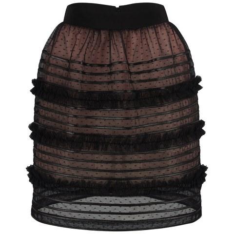 REDValentino Women's Lace Skirt - Black