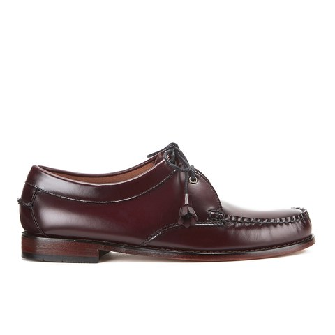 Bass Weejuns Men's Lace Up Leather Loafers - Wine