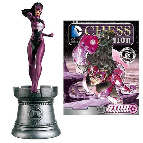 DC Comics Star Sapphire White Rook Chess Piece with Collector Magazine
