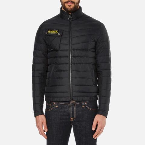 Barbour International Men's Slim Fit Chain International Baffle Quilt Jacket - Black