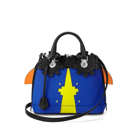 Aspinal of London Hepburn Mini Bug Bag - Amber Cobalt - Blue
