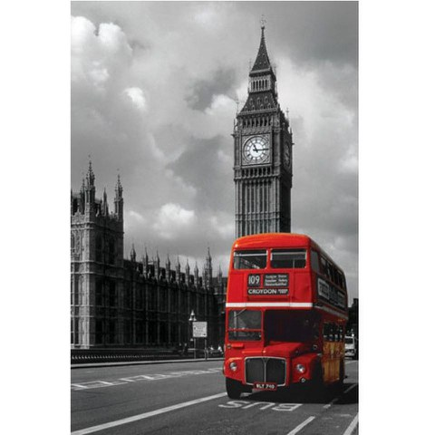 London Red Bus - 24 x 36 Inches Maxi Poster