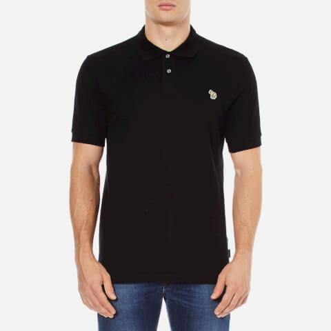 Paul Smith Jeans Men's Basic Pique Zebra Polo Shirt - Black