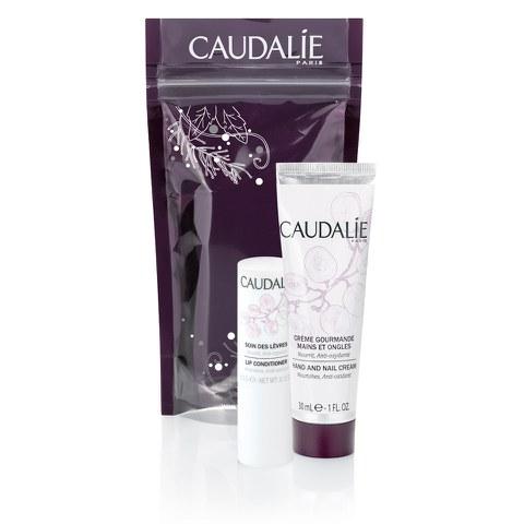 Caudalie Winter Duo - Lip Conditioner and Hand Cream Set