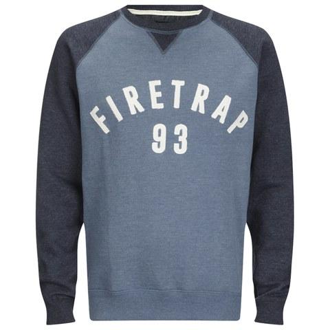 Firetrap Men's Rumsey Crew Neck Raglan Sweatshirt - Captain Blue