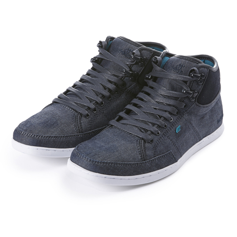 Boxfresh Men's Swapp 3 Prem Chambray/Suede High Top Trainers - Navy