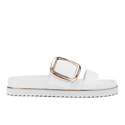 Senso Women's Kada Leather Double Strap Sandals - Ice