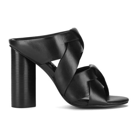 Senso Women's Xanthe I Leather Strappy Mule Sandals - Ebony