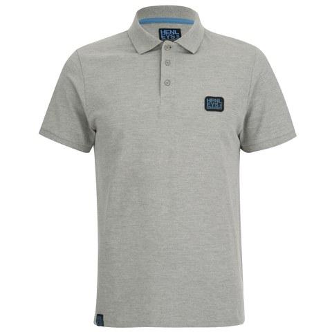 Henleys Men's Loaf Logo Collar Polo Shirt - Athletic Grey Marl