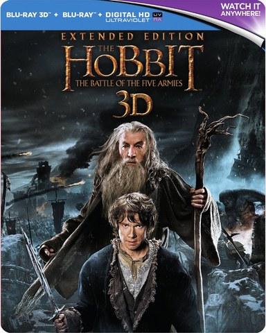 The Hobbit: La Batalla de los Cinco Ejércitos Extendida 3D - Steelbook de Edición Limitada