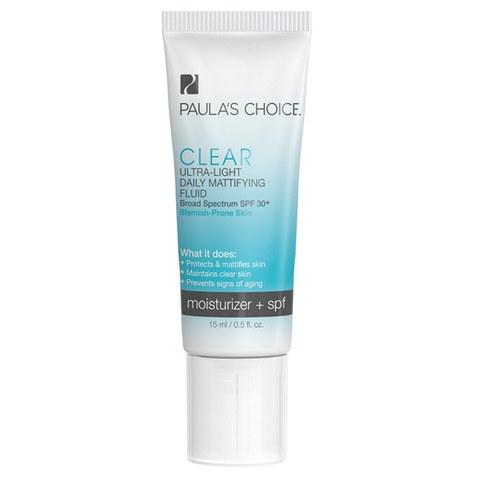 Paula's Choice Clear Ultra-Light Daily Mattifying Fluid SPF 30+ - Trial Size (15ml)