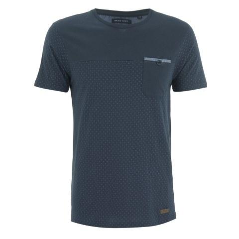 Brave Soul Men's Ginn Dot Print T-Shirt - Navy