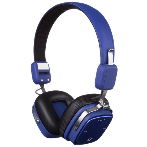 Kitsound Clash Bluetooth Headphones with Mic - Blue