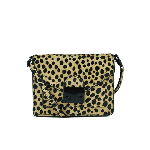 Loeffler Randall Women's Baby Rider Cross Body Bag - Leopard