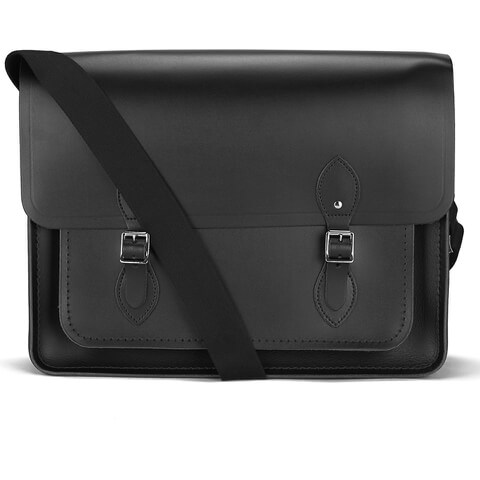 The Cambridge Satchel Company Men's Work Messenger Bag - Black
