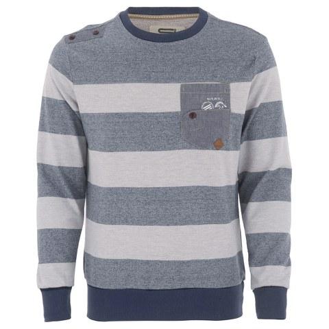 Smith & Jones Men's Casek Striped Sweatshirt - Navy