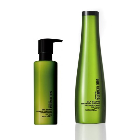 Shu Uemura Art of Hair Silk Bloom Shampoo (300ml) and Conditioner (250ml)