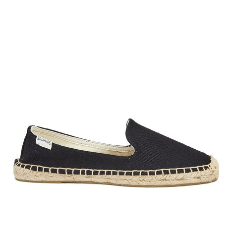 Soludos Women's Linen Espadrille Smoking Slippers - Linen Black