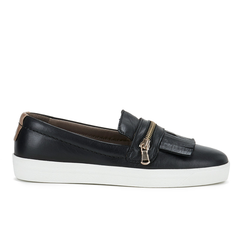 H Shoes by Hudson Women's Beata Tassle Leather Slip On Trainers - Black