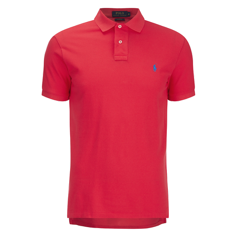 Polo Ralph Lauren Men's Short Sleeve Custom Fit Polo Shirt - Bright Hibiscus
