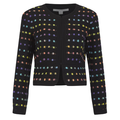 Diane von Furstenberg Women's Alberta Jacket - Black/Pop Violet Multi