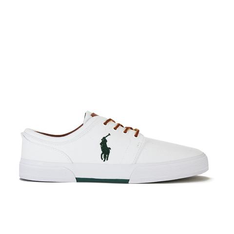 Polo Ralph Lauren Men's Faxon Canvas Trainers - White