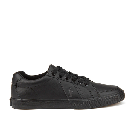 Polo Ralph Lauren Men's Hugh Leather Trainers - Black