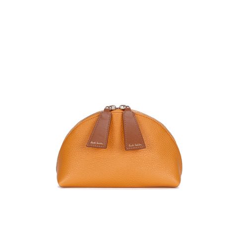 Paul Smith Accessories Women's Leather Cosmetic Bag - Orange