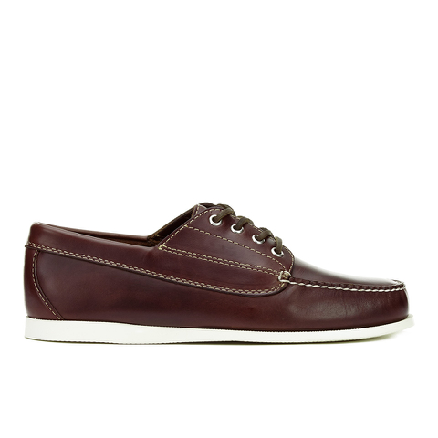 G.H Bass & Co. Men's Camp Moc Jackman Pull Up Leather Boat Shoes - Dark Brown