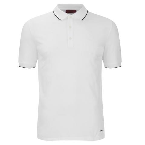HUGO Men's Delorian Tipped Polo Shirt - White