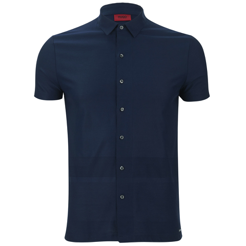 HUGO Men's Darizona Short Sleeve Shirt - Navy