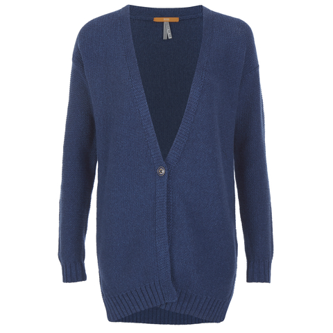 BOSS Orange Women's Wirele Knitted Cardigan - Dark Blue