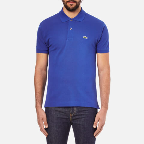 Lacoste Men's Short Sleeve Pique Polo Shirt - Delta Blue