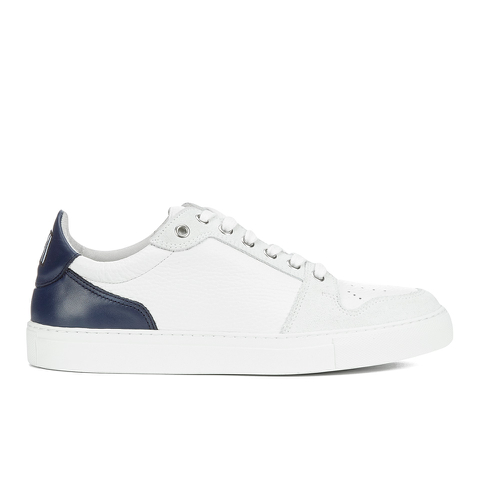AMI Men's Low Top Trainers - White/ Navy