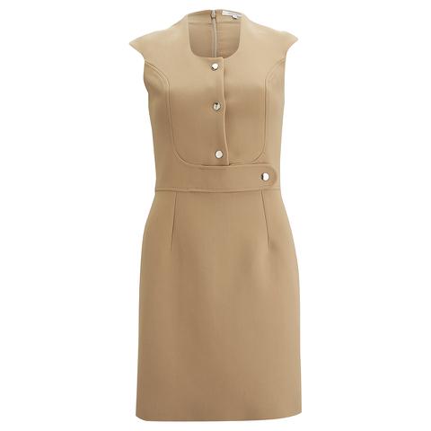Carven Women's Poppers Shift Dress - Beige