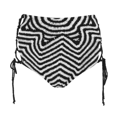 Mara Hoffman Women's Crochet Lace Up Side Bikini Bottoms - Starbasket Crochet