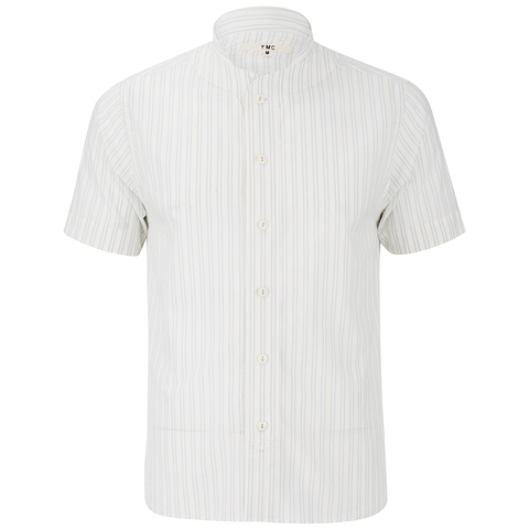 YMC Men's Double Stripe Baseball Shirt - Cream