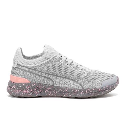 Puma Women's Ignite Sock Woven Low Top Trainers - Grey/Grey