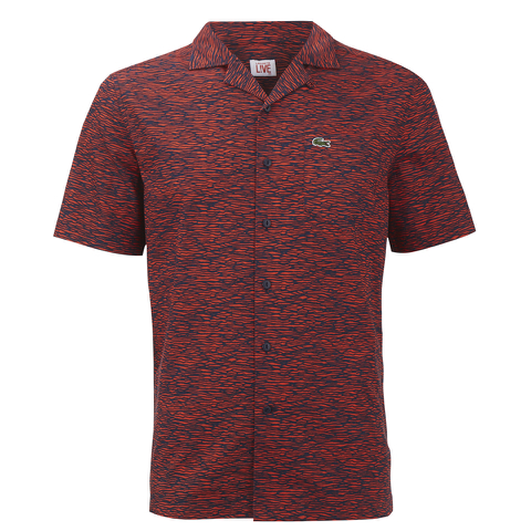 Lacoste Live Men's Printed Short Sleeve Shirt - Red