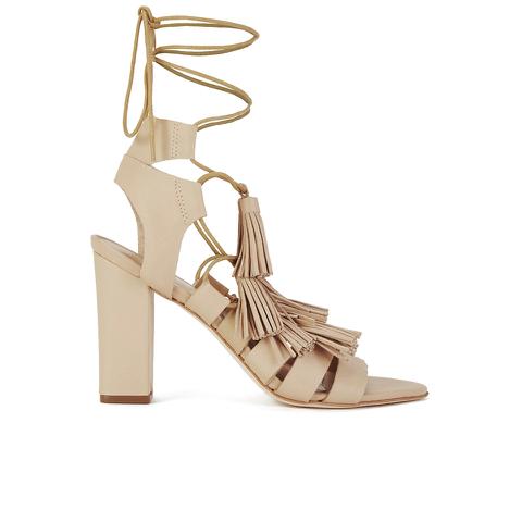 Loeffler Randall Women's Luz Tassel Block Heeled Sandals - Wheat