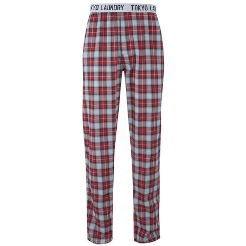 Tokyo Laundry Men's Half Moon Bay Check Loungepants - Samba Red
