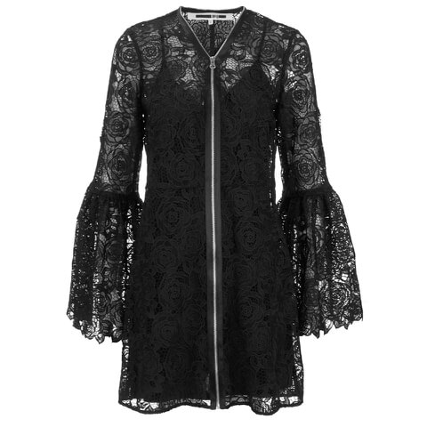 McQ Alexander McQueen Women's A Line Lace Dress - Black