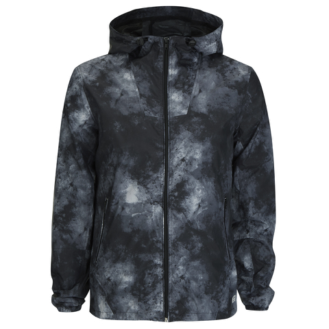 Produkt Men's Lightweight Printed Hooded Jacket - Forest Night