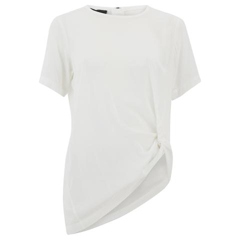 Designers Remix Women's Rion Knot T-Shirt - White