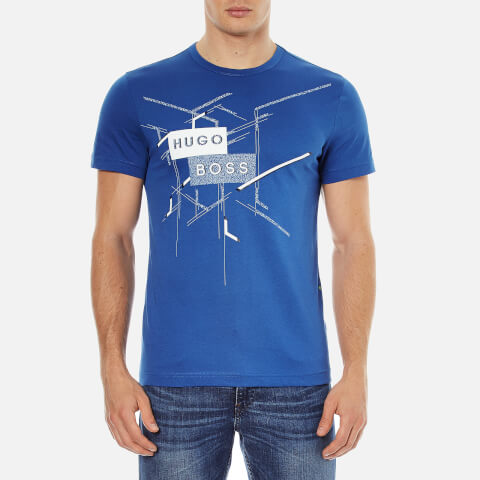 BOSS Green Men's Tee 2 Printed T-Shirt - True Blue