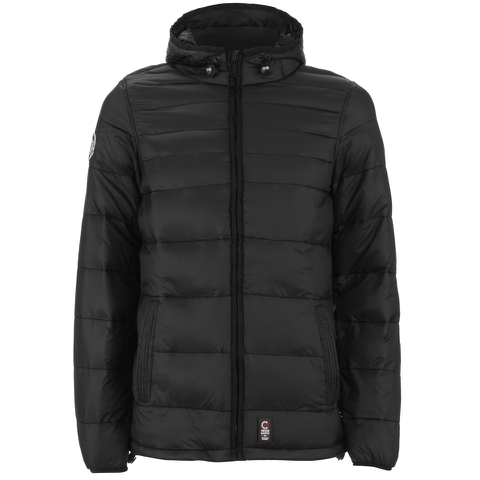 Crosshatch Men's Quilted Rabble Jacket - Caviar